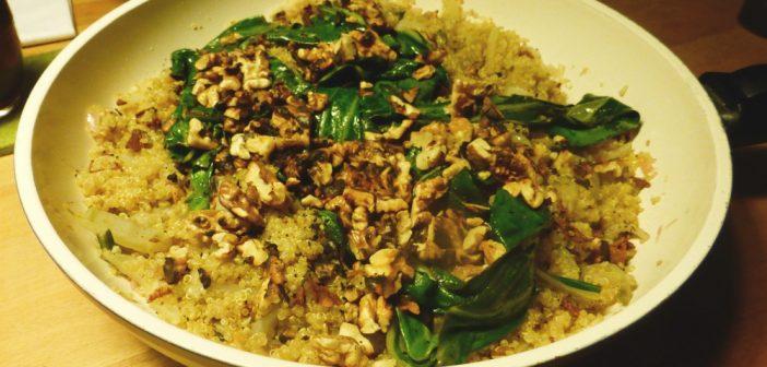 Quinoa-Risotto mit Mangold