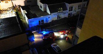 Die Feuerwehr sichert den Ort