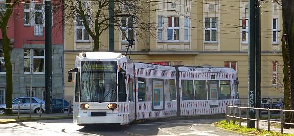 Schöne Kurven mit der Straßenbahn