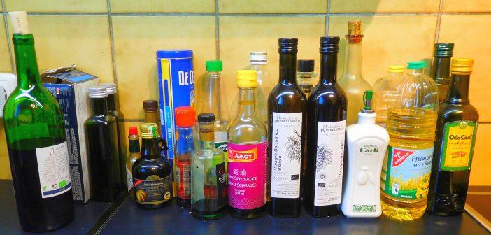 Küchenram: Wieviel Essig und Öl braucht der Mensch?