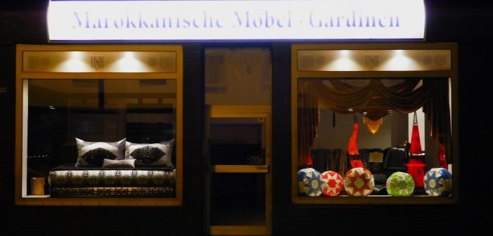 Marokkanischer Bettenladen an der Kruppstraße