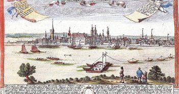 Düsseldorf um 1729 - Kupferstich nach F.B.Weber