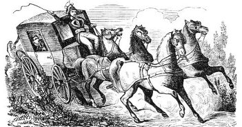 Die Postkutsche anno 1877