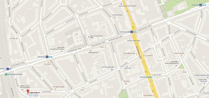 Die Lindenstraße auf Google-Maps
