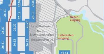 Lageplan: Botanischer Garten der HHU