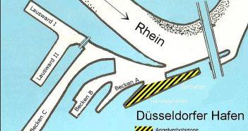 Lageplan Düsseldorfer Hafen