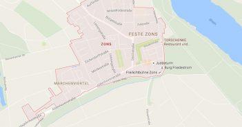 Map: Zons am Rhein