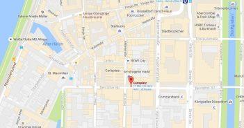 Google-Map: Dä Carlsplatz im Herzen der Altstadt