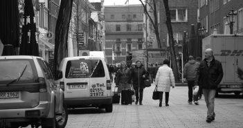 Die Bolkerstraße am Vormittag