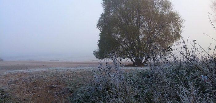 Frostiger Tag am Paradiesstrand