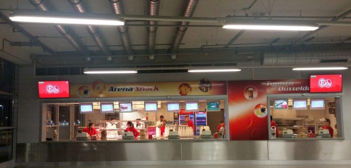 Catering in der Düsseldorfer Arena