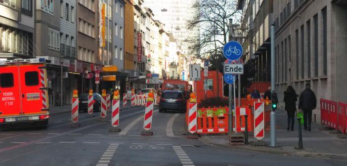Friedrichstraße - das kurze Leben der Fahrradspur