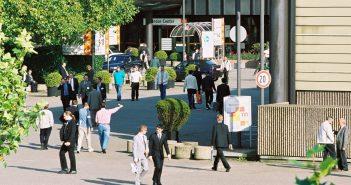 Messe Düsseldorf: Verwaltungsgebäude (Foto: Messe Düsseldorf / Tillmann & Partner)