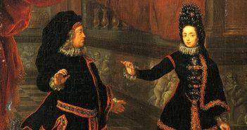 Jan Wellem und Anna Maria Luisa haben sich verkleidet
