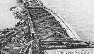 Die gesprengte Skagerrak-Brücke (Oberkasseler Brücke) 1945