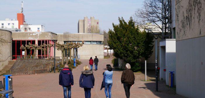 Heinrich-Heine-Uni: Flanieren über die Fußgängerachse