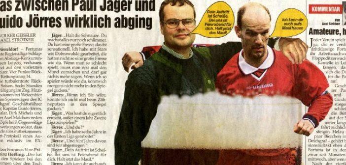 Legendär: Paul Jägers Disput mit Guido Jörres