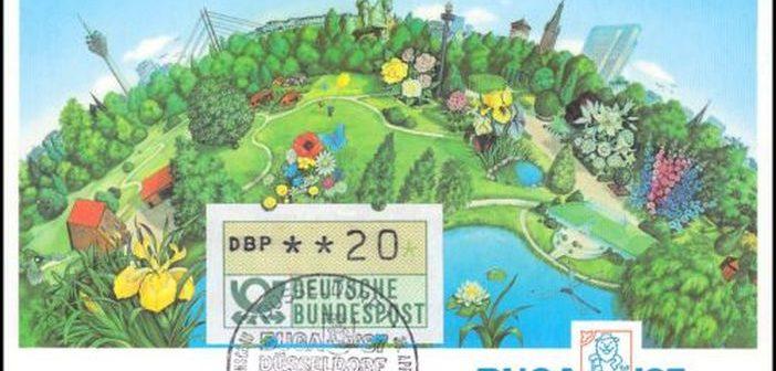 Die Sondermarke zur Buga 1987 in Düsseldorf
