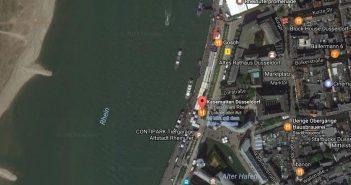 Google-Map: Rheinuferpromenade mit Kasematten