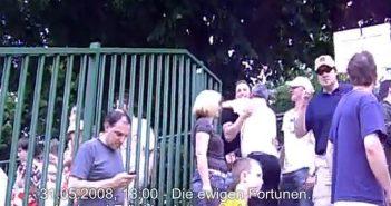 Mai 2008 in Erfurt: Paul Jäger begrüßt Frank Mayer und Axel Bellinghausen