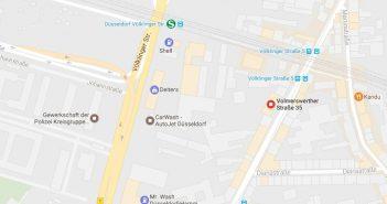 Google-Map: Volmerswerther Str. 35 - hier stand das Haus vom Backofen; es wurde für den Hotelneubau abgerissen