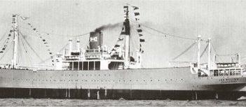 Eines der wenigen bekannten Foto des Walfängers MS Jan Wellem