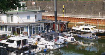 Der Yachthafen im alten Zollhafen - damit begann der Umbau