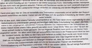 Stellungnahme des SCD zu den Anti-Fan-Maßnahmen der Fortuna