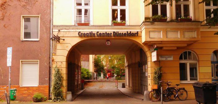 Haupteinfahrt zum Creativ Center Düsseldorf