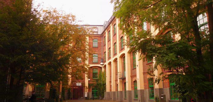 Im Hof der Lakritzfabrik Münster