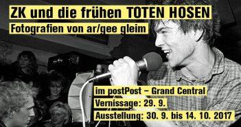 """Die Austellung: """"ZK und die frühen TOTEN HOSEN. Von ar/gee gleim"""""""