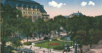 Der Corneliusplatz auf einer zeitgenössischen Ansichtskarte von 1909