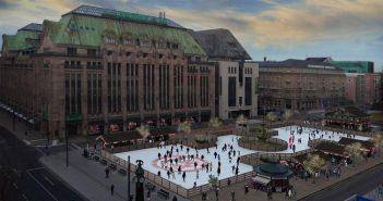 Corneliusplatz - bald wieder mit Eisfläche?