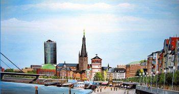 So schön malt Friedhelm Riegel unsere kleine Stadt...