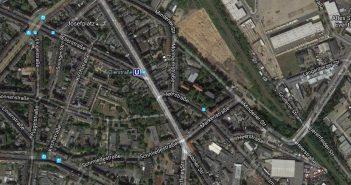 Google-Map: Das südliche Ende der Kölner Straße