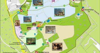 Der Wildpark im Grafenberger Wald: Übersichtsplan