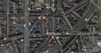 Google-Map: Café Knülle auf der Oberbilker Allee