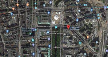 Google-Map: Die Mayersche an der Kö