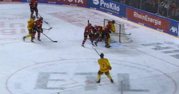 Haie vs DEG 0:1 (Screenshot: Sport1)