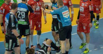 Rhei Vikings vs Balingen: Handschke an Boden