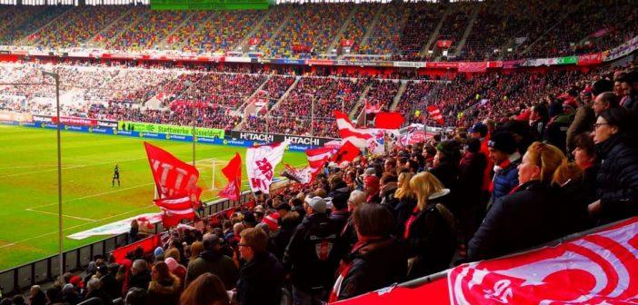 F95 vs Fürth: Noch ist die Stümmung gut...