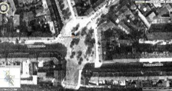 Der Dorotheenplatz 1927 (Luftbild: Geoportal, Landeshauptstadt Düsseldorf)
