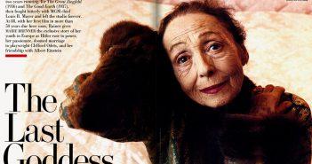Luise Rainer, 88-jährig, fotografiert von Annie Leibowitz für Vanity Fair
