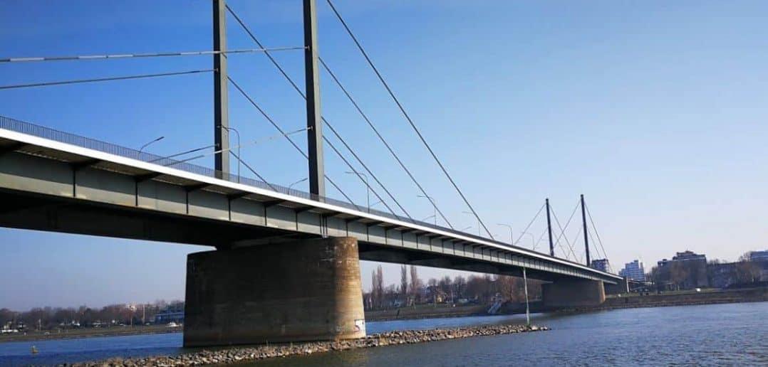 Nördlichster Punkt der 3-Brücken-Runde - die Theodor-Heuss-Brücke
