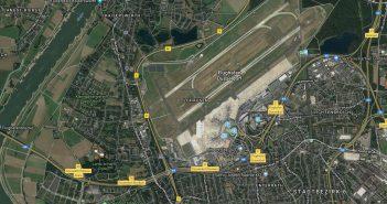 Google-Map: Die Gegend rund um den Flughafen