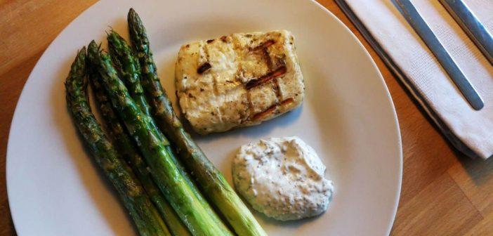 RdW: Grüner Spargel und Halloumi vom Grill