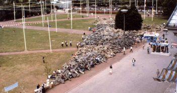 Die 7.000 Stelen vor dem Fridericianum in Kassel