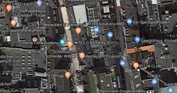 Google-Map: Die Schneider-Wibbel-Gasse im Herzen der Altstadt