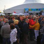 Jazz-Rally 2018: Abends vorm Zelt auf dem Burgplatz