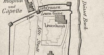 Stadtplan Düsseldorf 1288 (Rekonstruktion)